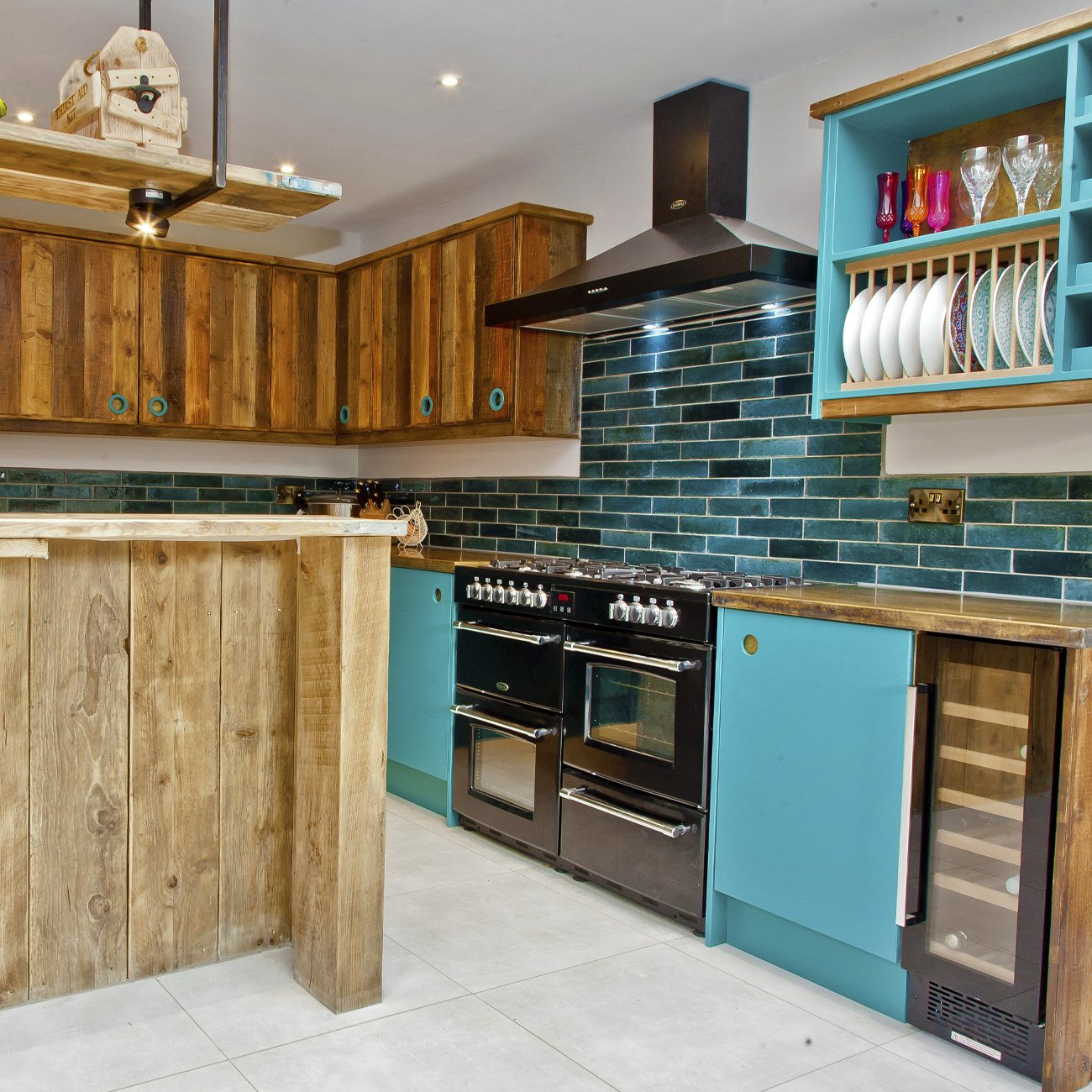 Interior of bespoke kitchen design and build