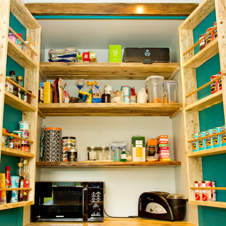 Cupboard interior of bespoke kitchen design project
