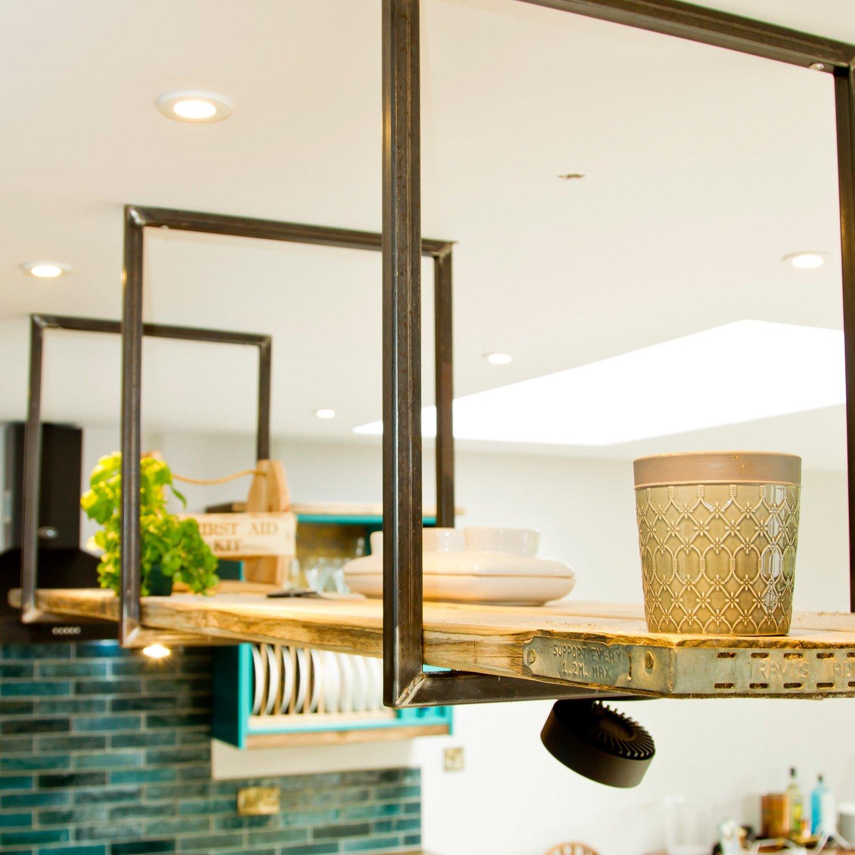 Shelving detail in bespoke kitchen design project